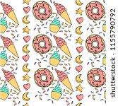 cute donat cream cake food... | Shutterstock .eps vector #1155790792