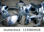 boat propellers speed boat made ... | Shutterstock . vector #1155804028