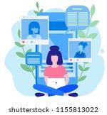concept blog content  blogging  ... | Shutterstock .eps vector #1155813022