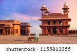 woman tourist at fatehpur sikri ... | Shutterstock . vector #1155813355