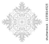 damask graphic ornament. floral ... | Shutterstock .eps vector #1155814525
