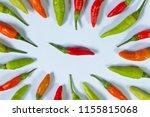 colorful chilli background  ... | Shutterstock . vector #1155815068