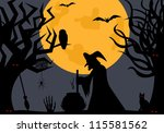 illustration of a witch | Shutterstock .eps vector #115581562