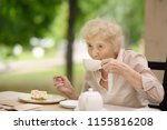 beautiful senior lady with... | Shutterstock . vector #1155816208