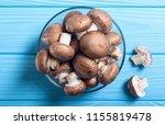 fresh raw royal champignon ....   Shutterstock . vector #1155819478