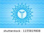 caduceus medical icon inside...   Shutterstock .eps vector #1155819808