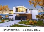 3d rendering of modern cozy... | Shutterstock . vector #1155821812