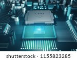 circuit board. technology... | Shutterstock . vector #1155823285