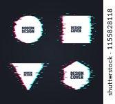 vector set of minimal geometric ... | Shutterstock .eps vector #1155828118