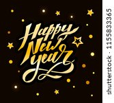 happy new year vector phrase... | Shutterstock .eps vector #1155833365
