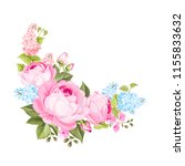 the rose elegant card. a spring ... | Shutterstock .eps vector #1155833632
