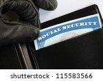 social security theft concept... | Shutterstock . vector #115583566