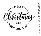 merry christmas and happy new... | Shutterstock .eps vector #1155836758