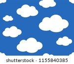 cute clouds pattern. endless...   Shutterstock .eps vector #1155840385
