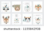 vector collection of postcards...   Shutterstock .eps vector #1155842938