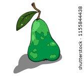 pear. vector illustration of a... | Shutterstock .eps vector #1155844438
