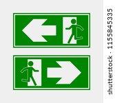 fire hazard. route of... | Shutterstock .eps vector #1155845335