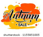 autumn sale lettering text on... | Shutterstock .eps vector #1155851005