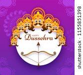 happy dussehra festival poster... | Shutterstock .eps vector #1155851398