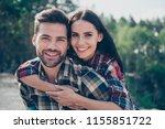 portrait of nice lovely cute... | Shutterstock . vector #1155851722