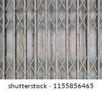 rust fold steel door or the... | Shutterstock . vector #1155856465