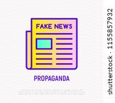 newspaper with fake news. thin... | Shutterstock .eps vector #1155857932