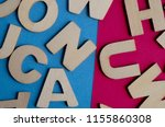 words have power word cube on... | Shutterstock . vector #1155860308