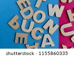 words have power word cube on... | Shutterstock . vector #1155860335