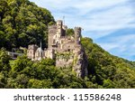 medieval fortress in the... | Shutterstock . vector #115586248
