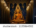 buddha chinnarat the most... | Shutterstock . vector #1155864502