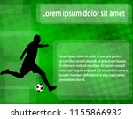 soccer player silhouette on the ... | Shutterstock .eps vector #1155866932