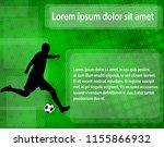 soccer player silhouette on the ... | Shutterstock .eps vector #1155866932