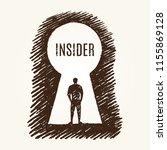 insider business concept sketch....   Shutterstock .eps vector #1155869128