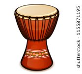 vector illustration of djembe... | Shutterstock .eps vector #1155871195