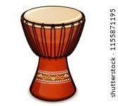 vector illustration of djembe... | Shutterstock .eps vector #1155871195
