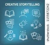 storytelling icon with photo ... | Shutterstock .eps vector #1155872242