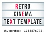 marquee sign lightbox signage.... | Shutterstock .eps vector #1155876778