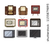 television receivers set  tv... | Shutterstock .eps vector #1155879895