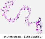 colorful abstract music notes... | Shutterstock .eps vector #1155880552