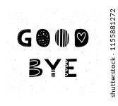 cute hand drawn black lettering ... | Shutterstock .eps vector #1155881272