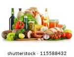 composition with variety of... | Shutterstock . vector #115588432