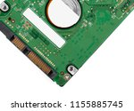 hard drive isolated on white... | Shutterstock . vector #1155885745