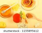 tea from sea buckthorn honey... | Shutterstock . vector #1155895612