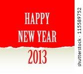 Happy New Year design card vector - stock vector