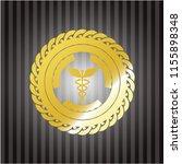 caduceus medical icon inside...   Shutterstock .eps vector #1155898348