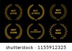 golden vector laurel wreaths on ...   Shutterstock .eps vector #1155912325