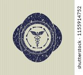 blue caduceus medical icon...   Shutterstock .eps vector #1155914752