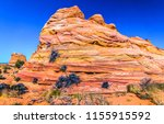 red rock mountain cliff view.... | Shutterstock . vector #1155915592