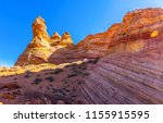 red rock canyon mountain... | Shutterstock . vector #1155915595