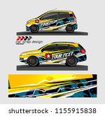 car decal graphic vector.... | Shutterstock .eps vector #1155915838
